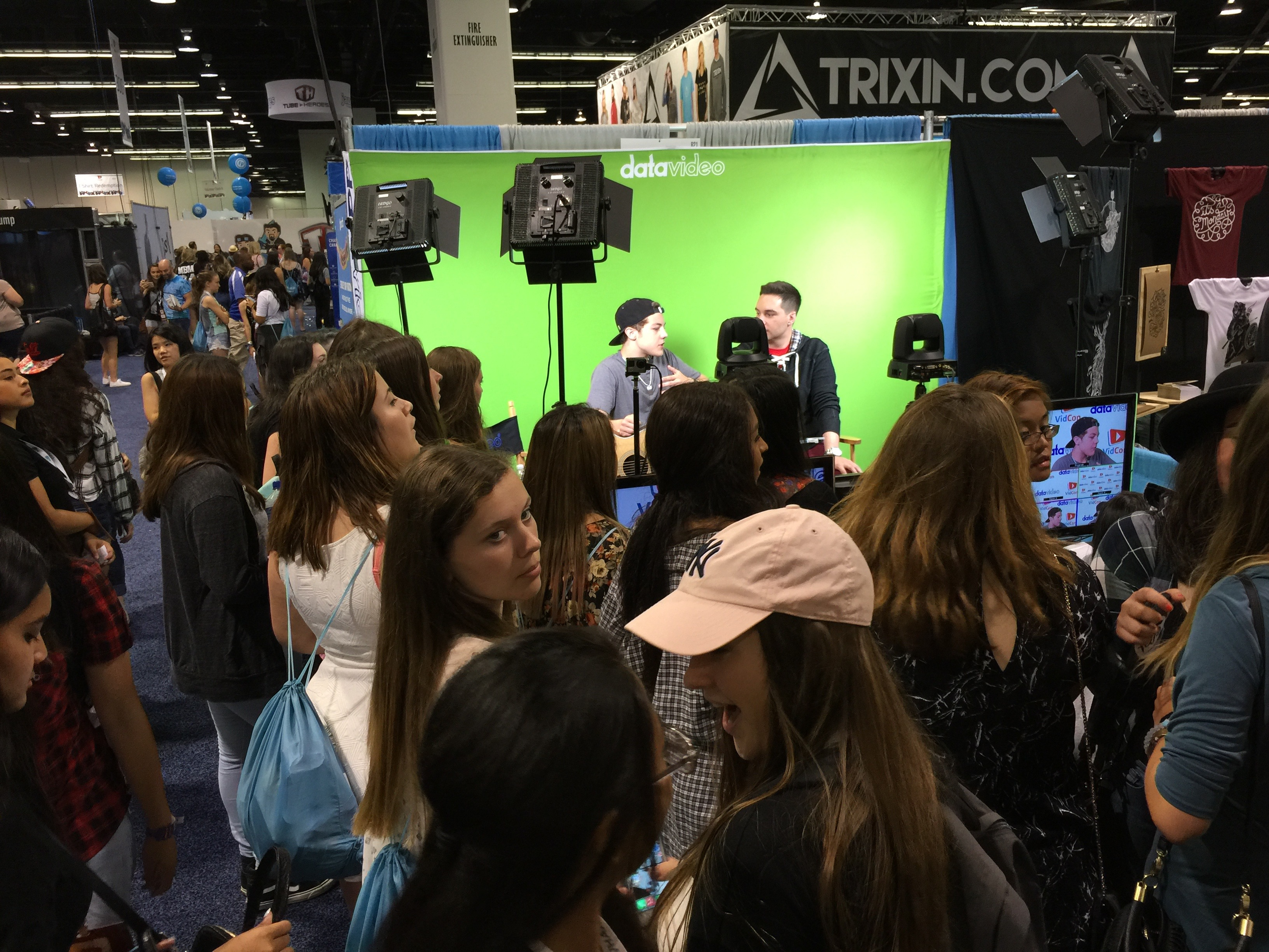 YouTube Creators use Datavideo to shoot live at VidCon 2015